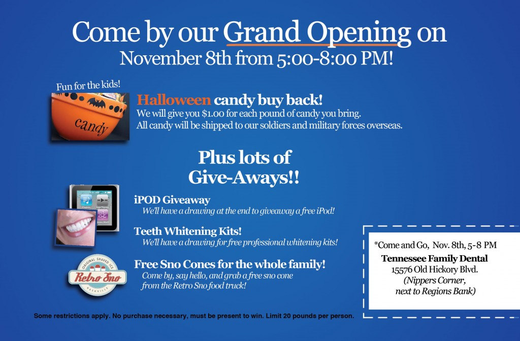 Tennessee Family Dental Grand Opening Announcement